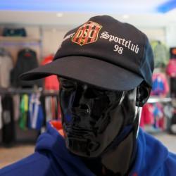 Basecap schwarz mit bedrucktem Logo