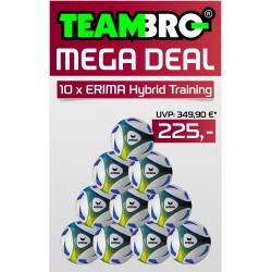 10 x ERIMA HYBRID TRAINING - ROYAL/LIME - 5