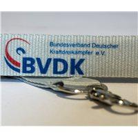 BVDK Schlüsselband weiss