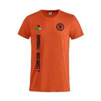"""Radeberger SV T-Shirt """"HANDBALL-WAS SONST"""" blutorange Junior"""
