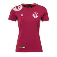 VfL Meißen Baumwoll T-Shirt Damen deep rot