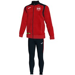 FC Vorwärts Kornharpen Trainingsanzug rot/schwarz Junior