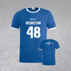 "BSG Stahl Riesa Fanshirt Junior ""Neunzehn 48"" blau/weiß"