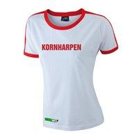 FC Vorwärts Kornharpen Fanshirt Damen weiss/rot