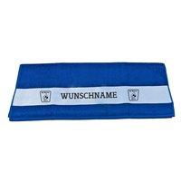 BC Wismut Gera Duschtuch NAME blau