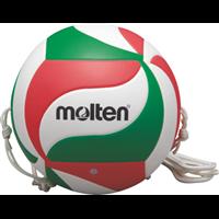 MOLTEN Volleyball spezieller Trainingsball mit 2 Halteseilen
