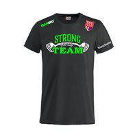 "TSV Großwaltersdorf Fanshirt ""STRONG FOR MY TEAM"" Unisex schwarz"