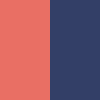 coral/navy